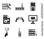 pc setting icons set. simple...