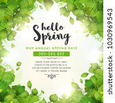 annual spring sale background ... | Shutterstock .eps vector #1030969543
