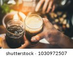 celebration meeting a group of... | Shutterstock . vector #1030972507