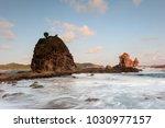 beautiful watulumbung beach ... | Shutterstock . vector #1030977157
