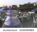 close up bottle of drinking... | Shutterstock . vector #1030989883