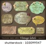 vector illustration of vintage... | Shutterstock .eps vector #103099547