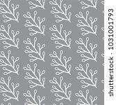 modern floral seamless pattern... | Shutterstock .eps vector #1031001793