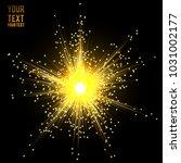 stars plasma splash vector.... | Shutterstock .eps vector #1031002177