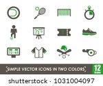 sport simple vector icons in... | Shutterstock .eps vector #1031004097