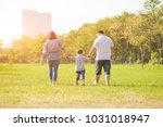 mother playing with son  in the ... | Shutterstock . vector #1031018947
