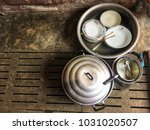 the dish was not washed. | Shutterstock . vector #1031020507