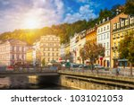architecture of karlovy vary ... | Shutterstock . vector #1031021053