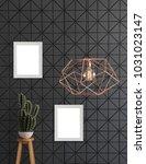 decorative textured black wall... | Shutterstock . vector #1031023147