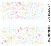 children theatre patterns.... | Shutterstock .eps vector #1031030287