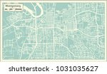montgomery alabama usa city map ... | Shutterstock .eps vector #1031035627