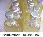 homemade elderflower syrup in... | Shutterstock . vector #1031040157