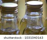 homemade elderflower syrup in... | Shutterstock . vector #1031040163