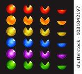 mobile game assets | Shutterstock .eps vector #1031042197