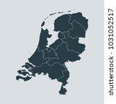 netherlands map on gray... | Shutterstock .eps vector #1031052517