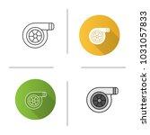 turbocharger icon. flat design  ...   Shutterstock .eps vector #1031057833