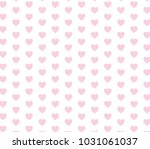 pink heart vector pattern....   Shutterstock .eps vector #1031061037