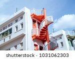 spiral staircases  bugis... | Shutterstock . vector #1031062303