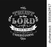 christian proverb lettering... | Shutterstock .eps vector #1031063917
