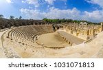 view of the roman theater in... | Shutterstock . vector #1031071813