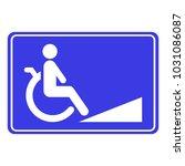 wheelchair ramp sign....   Shutterstock .eps vector #1031086087