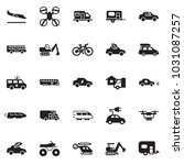 solid black vector icon set  ... | Shutterstock .eps vector #1031087257