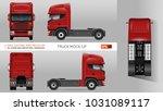 truck vector mock up. isolated...   Shutterstock .eps vector #1031089117