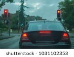 rear view of a car  displaying... | Shutterstock . vector #1031102353