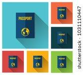 passport icon vector... | Shutterstock .eps vector #1031110447