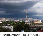 the city outdoor factory... | Shutterstock . vector #1031114383