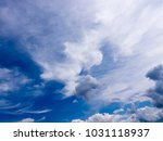 the white clouds background and ... | Shutterstock . vector #1031118937
