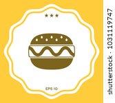 hamburger or cheeseburger icon | Shutterstock .eps vector #1031119747
