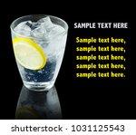 transparent alcohol cocktail... | Shutterstock . vector #1031125543