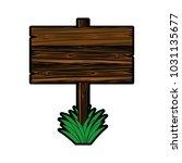 wooden signpost in blank | Shutterstock .eps vector #1031135677