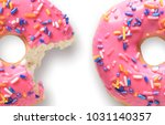one whole and one with missing... | Shutterstock . vector #1031140357