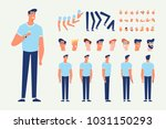 front  side  back view animated ... | Shutterstock .eps vector #1031150293