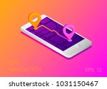 gps map navigation app on...   Shutterstock .eps vector #1031150467