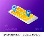 gps map navigation app on...   Shutterstock .eps vector #1031150473