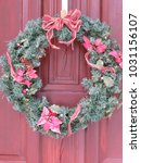 Christmas Wreath Hanging On A...