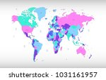 color world map vector | Shutterstock .eps vector #1031161957