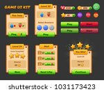 game ui set. complete menu of... | Shutterstock .eps vector #1031173423