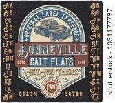 original vintage label typeface ... | Shutterstock .eps vector #1031177797