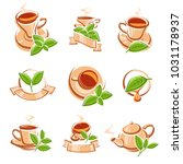 tea labels and icons set. vector | Shutterstock .eps vector #1031178937