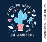 enjoy the simple life slogan... | Shutterstock .eps vector #1031182897