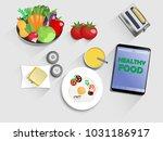 breakfast  lunch or dinner ... | Shutterstock .eps vector #1031186917