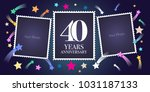 40 years anniversary vector... | Shutterstock .eps vector #1031187133