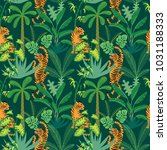 Seamless Pattern With Tigers...