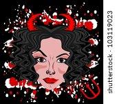 devil woman | Shutterstock .eps vector #103119023