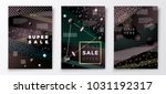 vector 3d realistic sale paper... | Shutterstock .eps vector #1031192317