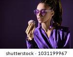 stylish african american girl... | Shutterstock . vector #1031199967